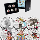 ISLE OF MAN - Alice's Adventures in Wonderland Silver 50p Set