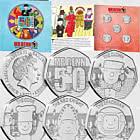 GUERNSEY - Mr Benn 50th Anniversary BU 50p Coin Set