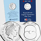 JERSEY - The RBL Centenary Brilliant Uncirculated 50p