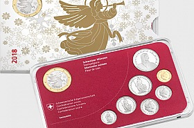 Christmas Coin Set 2018 with Medal - Brilliant Uncirculated