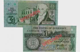 £1 B.Haines Signatory Guernsey Bank Note (AA Prefix)