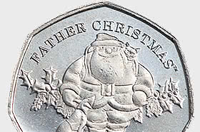 SOLD OUT - Christmas 2019 50p coin - Single Coin