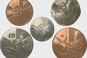 Island Games Low Value Coin Set