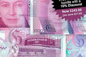10% korting: Gibraltar £ 100 bankbiljettenbundel. BESPAAR £ 27,00 - AANBIEDING ZWARTE VRIJDAG