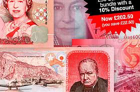 10% korting: Gibraltar £ 50 Bankbiljettenbundel - BLACK FRIDAY AANBIEDING
