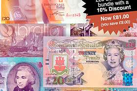 10% korting: Gibraltar £ 20 bankbiljettenbundel - BLACK FRIDAY AANBIEDING