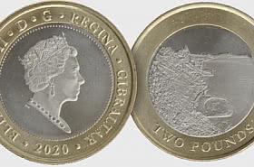 Gibraltar 2020 £2 Sandy Bay Coin