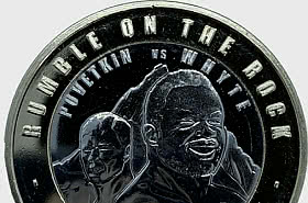 PRE - ORDER Rumble on the Rock WBC £2 Coin