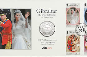 Limited Edition Catherine & William Stamp & Coin Cover