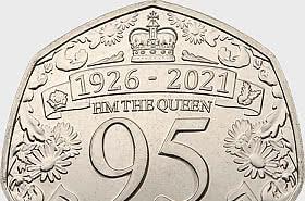 Queen 95th Birthday 50p coin