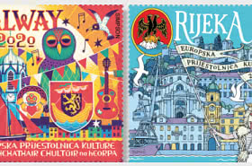 Joint Issue - Republic Croatia-Republic of Ireland, Rijeka and Galway, 2020 European Capitals of Culture