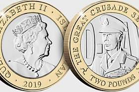 D-Day Commemorative £2 Coin - King George VI
