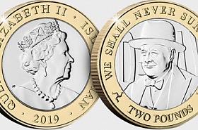 D-Day Commemorative £2 Coin - Churchill