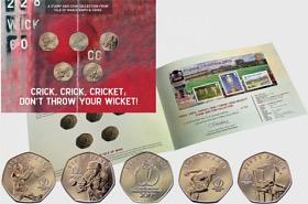 2019 Collezione di Monete da Cricket 50p