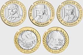 Collection de l'île de Man pièces de 2 £