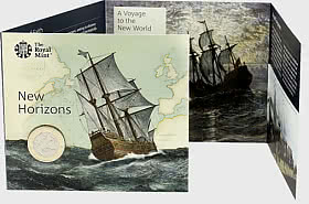 Mayflower 400 Brilliant Uncirculated £2 Coin Gift Pack