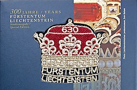 300 Years of Liechtenstein 2019 - CHF5 Silver Coin with CHF6.30 Princely Hat stamp
