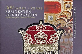 300 Years of Liechtenstein 2019 - CHF10 Gold Coin with CHF6.30 Princely Hat stamp