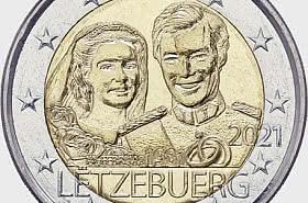 2 Euro - 40 Years Marriage of Grand Duke Henri (Relief)