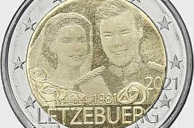 2 Euro - 40 Years Marriage of Grand Duke Henri (Photo)