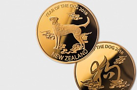 2018 Year of the Dog Gold Plated Medallion