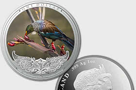 2020 Discover New Zealand - Tui Silver Proof Coin