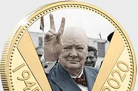 JERSEY - The VE Day 75th Anniversary Gold-Plated Coin