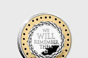 JERSEY - Remembrance Poppy Silver Proof £5 Coin