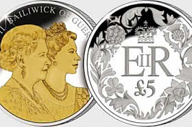 GUERNSEY - Diamond Jubilee £5 Proof Coin