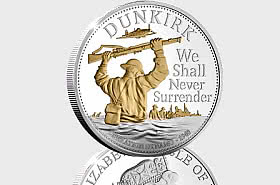ISLE OF MAN - Dunkirk 80th Anniversary Silver 5oz Coin