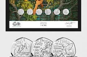 ISLE OF MAN - Die gerahmte Ausgabe von Peter Pan 50p