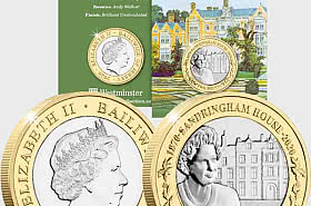 JERSEY - 2020 Sandringham House 150th Anniversary BU £2