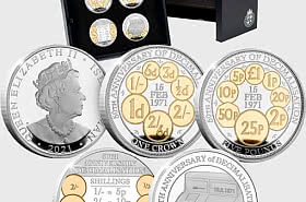 The Decimalisation Silver Proof Coin Set