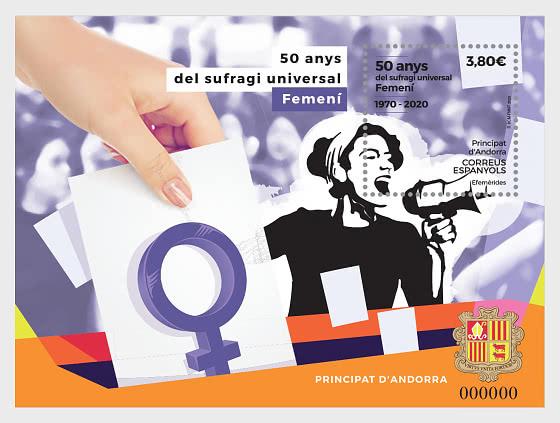 50 Years Of Female Universal Suffrage - Mint - Miniature Sheet