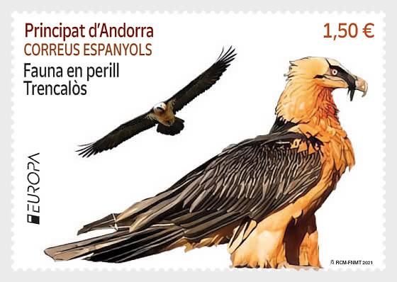 Europa 2021 - Endangered National Wildlife - Bearded Vulture - Mint - Set