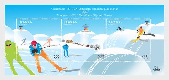 XXI Juegos Olímpicos de Invierno - Vancouver - Hojas Bloque