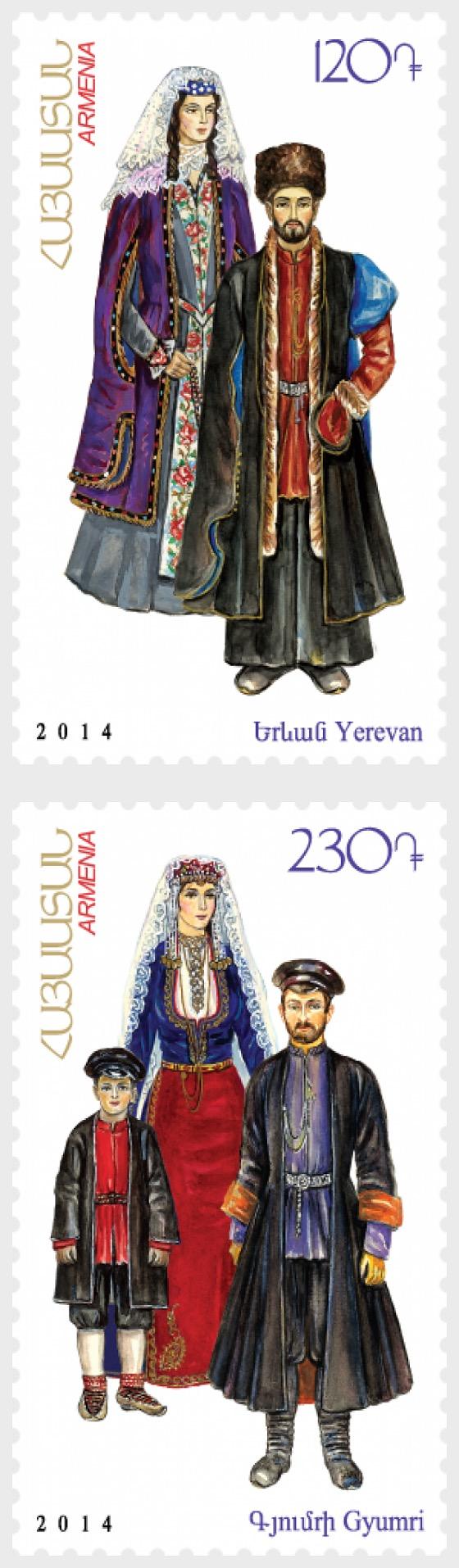 Trajes nacionales armenios - Ereván y Gyumri - Series