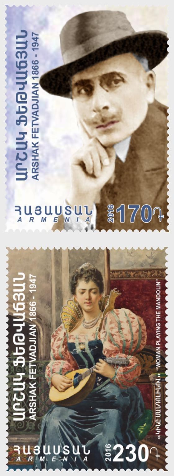 2016 - 150th Anniversary of Armenian Painter Arshak Fetvadjian - Set