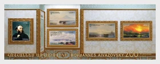 2017 - 200th Anniversary of Hovhannes Aivazovsky - Miniature Sheet