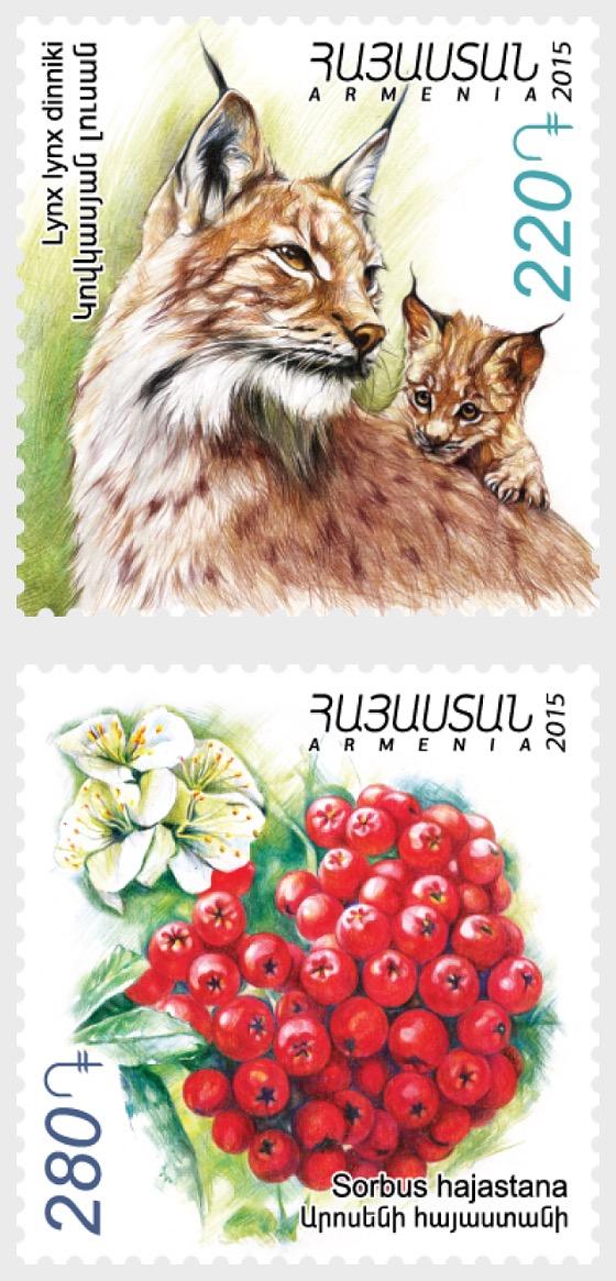 Flora and Fauna of Armenia - Animals & Plants - Set