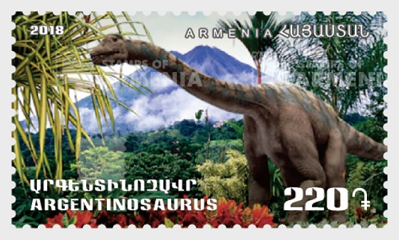 Flora and Fauna of the Ancient World - Dinosaurs - Argentinosaurus - Set