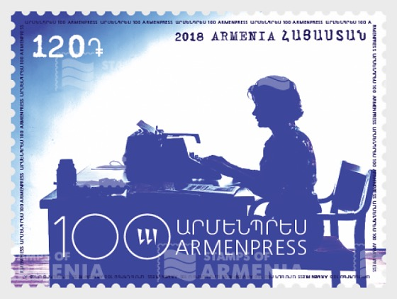 100th Anniversary of the Telegraph Agency of Armenia - Set