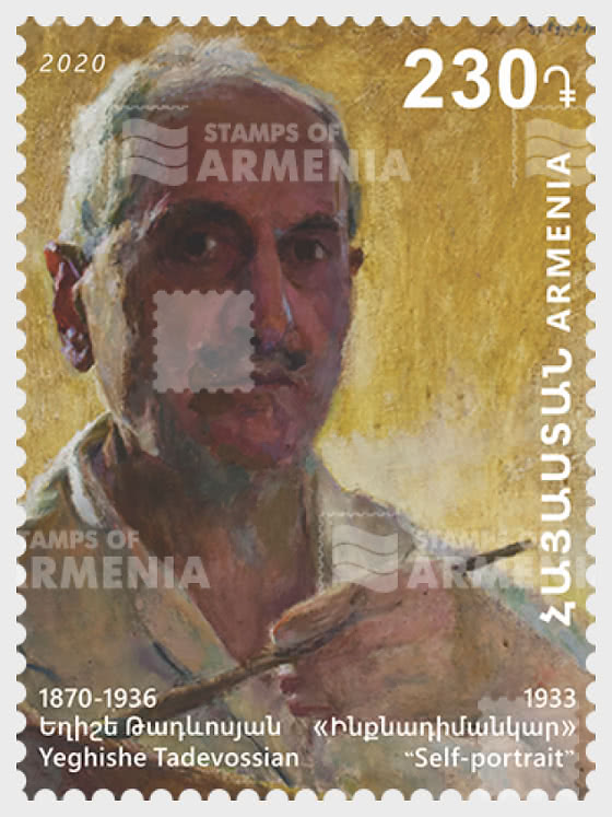 Prominent Armenians -150th anniversary of Yeghishe Tadevossian - Portrait  - Set