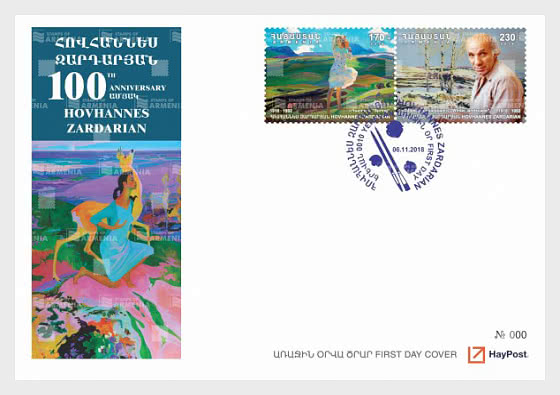 100 Aniversario de Hovhannes Zardaryan - Sobre de Primer Dia