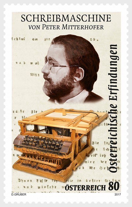 Typewriter- Peter Mitterhofer- (Set) - Set