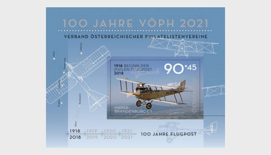 100 Years of Airmail - Miniature Sheet