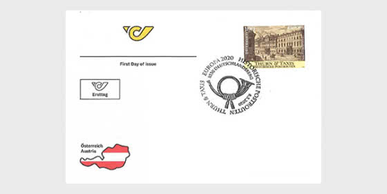 Europa 2020 – Historic Postal Routes Thurn and Taxis - First Day Cover