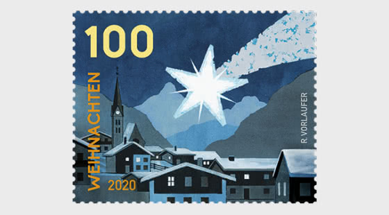 Christmas – Christmas Star - Strip of 5 Stamps - Collectibles