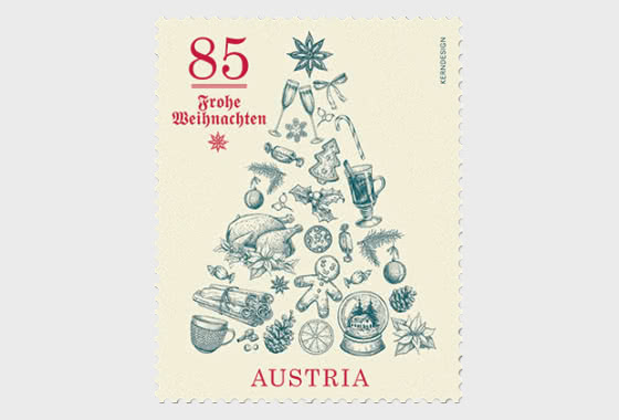 Christmas – Christmas Tree - Strip of 5 Stamps - Collectibles