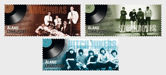 Golden Age of Åland Music- (Booklet Consisting of 3 x 3 Stamps) - Set